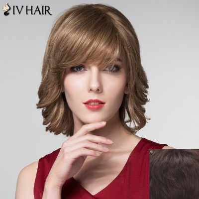 Graceful Short Inclined Bang Capless Shaggy Wave 100 Percent Human Hair Wig For WomenHuman Hair Wigs<br>Graceful Short Inclined Bang Capless Shaggy Wave 100 Percent Human Hair Wig For Women<br><br>Type: Full Wigs<br>Cap Construction: Capless<br>Style: Wavy<br>Cap Size: Average<br>Material: Human Hair<br>Bang Type: Side<br>Length: Short<br>Occasion: Daily<br>Density: 130%<br>Length Size(CM): 32<br>Weight: 0.170KG<br>Package Contents: 1 x Wig