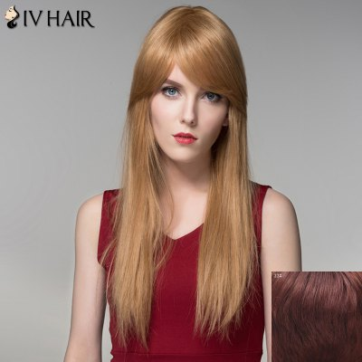 Charming Silky Straight Capless Trendy Long Side Bang Human Hair Wig For WomenHuman Hair Wigs<br>Charming Silky Straight Capless Trendy Long Side Bang Human Hair Wig For Women<br><br>Type: Full Wigs<br>Cap Construction: Capless<br>Style: Straight<br>Cap Size: Average<br>Material: Human Hair<br>Bang Type: Side<br>Length: Long<br>Occasion: Daily<br>Density: 130%<br>Length Size(CM): 60<br>Weight: 0.220KG<br>Package Contents: 1 x Wig
