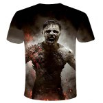 cheap Round Neck 3D Zombie Printed Short Sleeve T-Shirt For Men