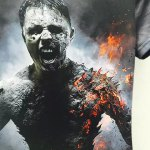 Round Neck 3D Zombie Printed Short Sleeve T-Shirt For Men for sale