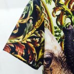 Round Neck 3D Elephants Printed Short Sleeve T-Shirt For Men for sale