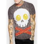 Slimming Round Collar Cute Skull Printing T-Shirt For Men deal