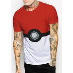 Slimming Round Collar Ball Printing T-Shirt For Men deal