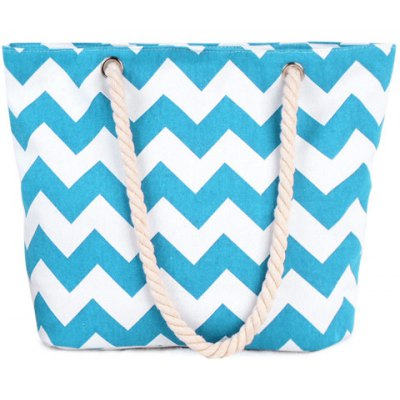 Leisure Wavy Stripes and Color Block Design Shoulder Bag For Women