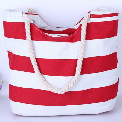Casual Color Block and Striped Design Shoulder Bag For Women