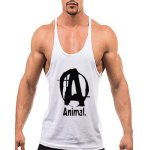 Buy Fitted Round Neck Letters Print Sports Tank Top M