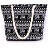 cheap Ethnic Style Elephant Print and Black Design Shoulder Bag For Women