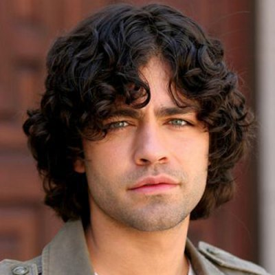 Men's Fashion Curly Side Bang Synthetic Wigs