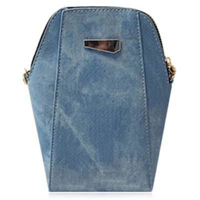 Trendy Solid Colour and PU Leather Design Shoulder Bag For Women