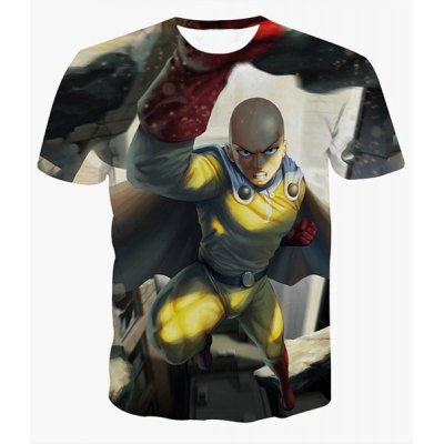 Fashion Pullover Round Collar Man Printed T-Shirt For Men