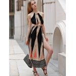 Sleeveless Backless Colored Hollow Out Maxi Braless Dress deal