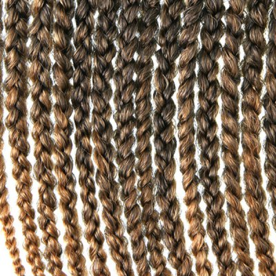 Vogue 14Pcs/Lot Brown Ombre Synthetic Handmade Medium Braided Hair Extension For Women