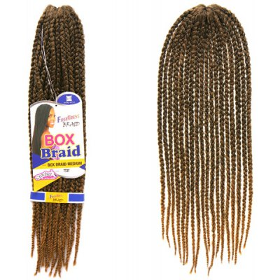 14Pcs/Lot Brown Ombre Synthetic Handmade Medium Braided Hair Extension