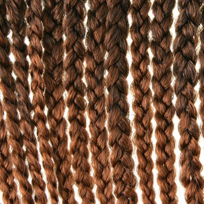 Stunning 14Pcs/Lot Dark Brown Ombre Synthetic Handmade Large Braided Hair Extension For Women