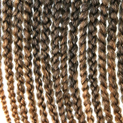 Stylish 14Pcs/Lot Long Synthetic Brown Ombre Handmade Large Braided Hair Extension For Women