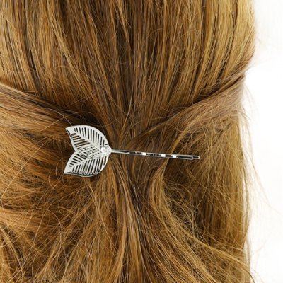 Stylish Hollow Out Leaf Hairpin For Women
