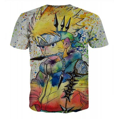 Fashion Round Collar Pullover Painting Cartoon T-Shirt For Men от GearBest.com INT