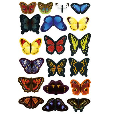 3D Colorful Butterfly Shape Removeable Wall Stickers