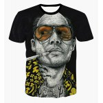 Fashion Round Collar Pullover Bald Man Printed T-Shirt For Men