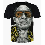 cheap Fashion Round Collar Pullover Bald Man Printed T-Shirt For Men
