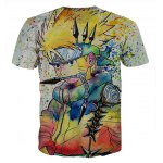 cheap Fashion Round Collar Pullover Painting Cartoon T-Shirt For Men