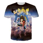 Buy 3D Cartoon Dragonball Figure Print Round Neck Short Sleeves T-Shirt Men