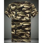 cheap Round Neck Camouflage Print Short Sleeve Men's T-Shirt