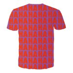 cheap Round Neck 3D Demon Letters Print Short Sleeves T-Shirt For Men