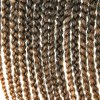 cheap Stylish 14Pcs/Lot Long Synthetic Brown Ombre Handmade Large Braided Hair Extension For Women