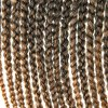 cheap Vogue 14Pcs/Lot Brown Ombre Synthetic Handmade Medium Braided Hair Extension For Women