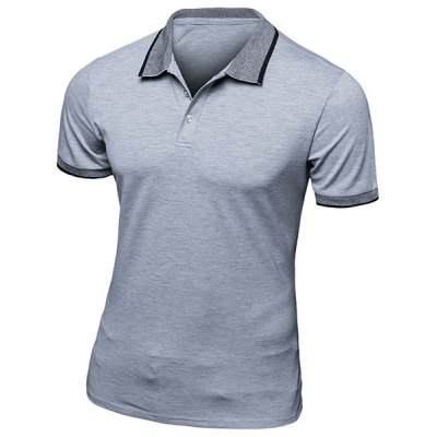 Turn-Down Collar Short Sleeve Polo T-Shirt
