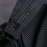 best Color Block Checked Turn-down Collar Long Sleeves Shirt For Men