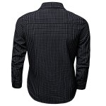 cheap Color Block Checked Turn-down Collar Long Sleeves Shirt For Men