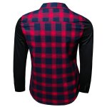 cheap Trendy Turn-Down Collar Tartan Print Long Sleeve Men's Shirt
