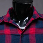 Trendy Turn-Down Collar Tartan Print Long Sleeve Men's Shirt deal