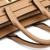 Elegant PU Leather and Solid Colour Design Tote Bag For Women photo