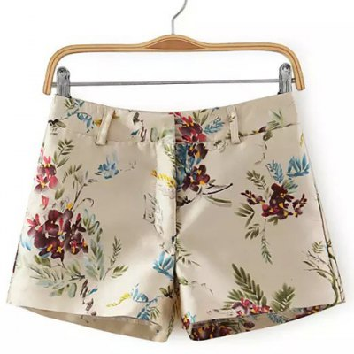 Colorful Floral Printed Straight Shorts