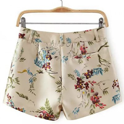 Refreshing Colorful Floral Printed Straight Shorts For Women