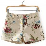 Zip Fly Floral Shorts
