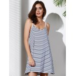 Spaghetti Strap Striped Loose-Fitting A Line Dress for sale