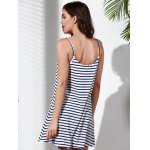 best Spaghetti Strap Striped Loose-Fitting A Line Dress