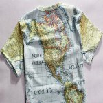 Casual Round Neck World Map Print Short Sleeves T-Shirt For Men deal