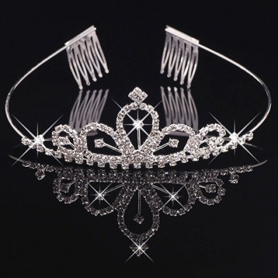 Gorgeous Rhinestoned Hollow Out Crown For Women