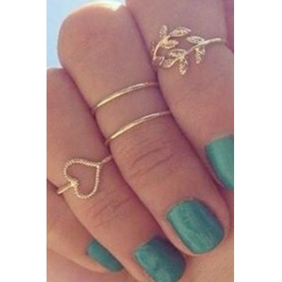 A Suit of Chic Simple Style Alloy Rings For Women