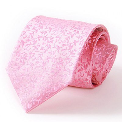 Tree Branch Jacquard 8.5CM Width Pink Tie For Men