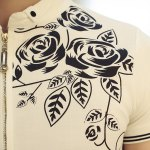 Casual Half Zipper Pullover Flower Printed T-Shirt For Men photo