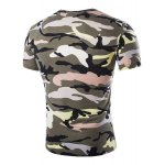 cheap Vogue Round Neck Camo Print Short Sleeves Loose Fit T-Shirt For Men