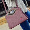 Stylish Metal and Lip Pattern Design Tote Bag For Women deal