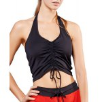 Active Halter Ruffled Candy Color Tank Top For Women