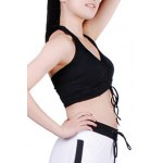 cheap Active Halter Ruffled Candy Color Tank Top For Women